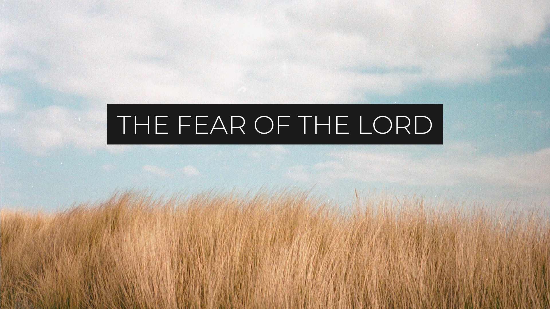 The Fear of the Lord // Josh Turner
